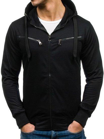 Bluza męska z kapturem czarna Denley 7080