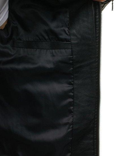 Kurtka męska skórzana czarna Denley 9123