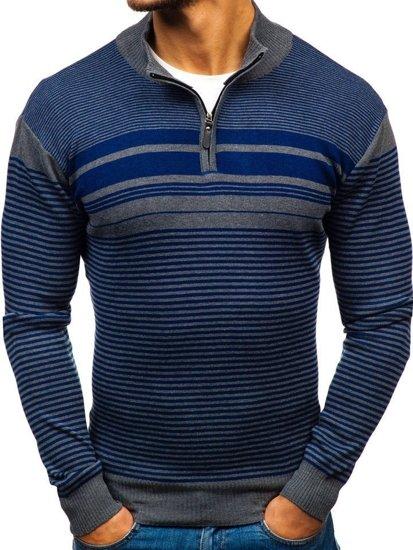 Sweter męski niebieski Denley BM6131