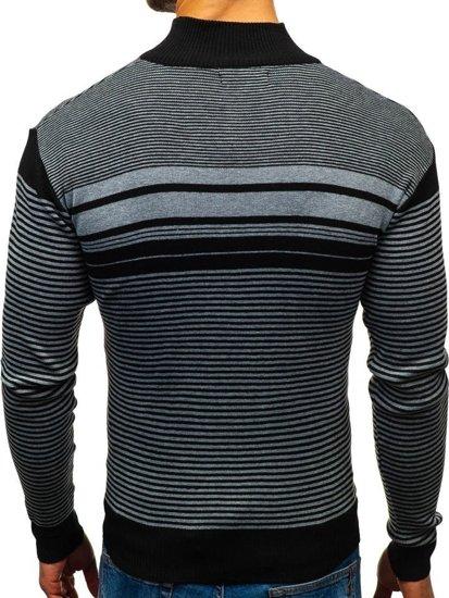 Sweter męski czarny Denley BM6131
