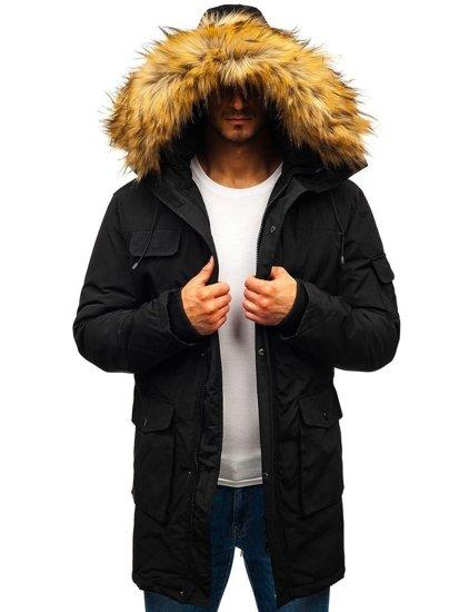 Kurtka męska zimowa czarna Denley 201816
