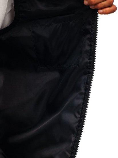 Bezrękawnik męski z kapturem bordowy Denley AK88