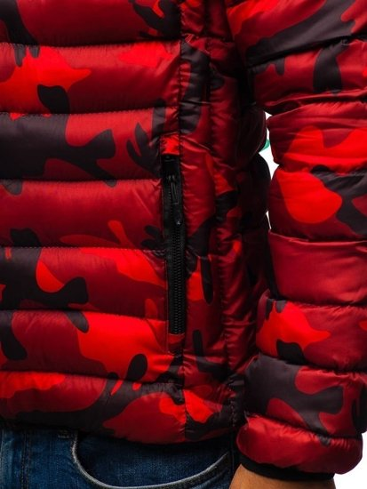 Kurtka męska zimowa sportowa czerwona Denley SM35