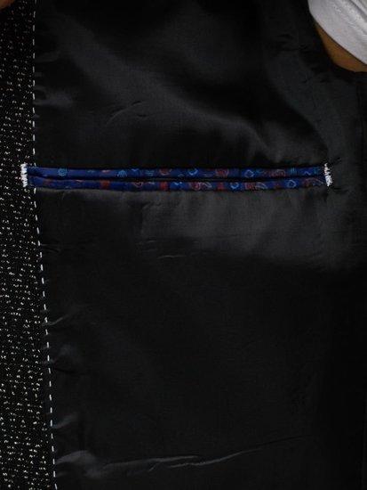 Marynarka męska elegancka czarna Denley 261