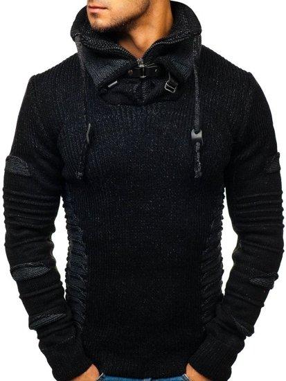 Sweter męski czarny Denley 20001