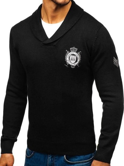 Sweter męski czarny Denley 19022