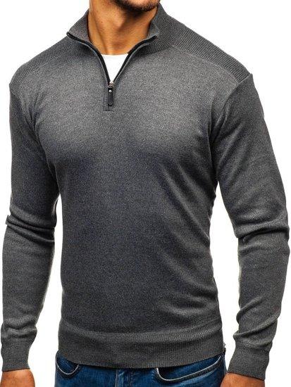 Sweter męski ciemnoszary Denley BM6113