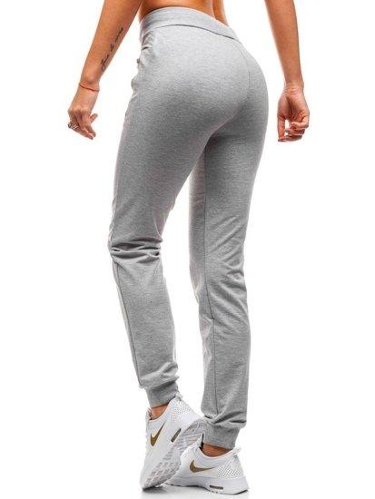 Spodnie dresowe damskie szare Denley W9566