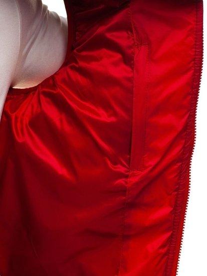 Kamizelka męska bez kaptura czerwona Denley 5173