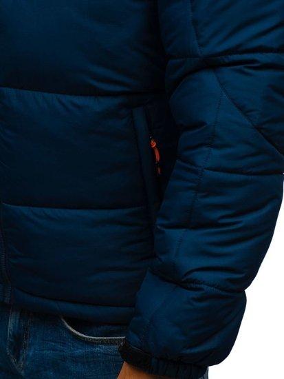 Kurtka męska zimowa sportowa granatowa Denley AB71