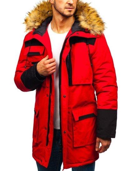 Kurtka męska zimowa czerwona Denley 201817