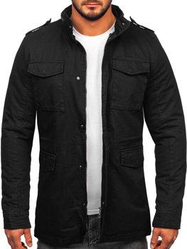 Bawełniana kurtka męska zimowa czarna Denley 5599