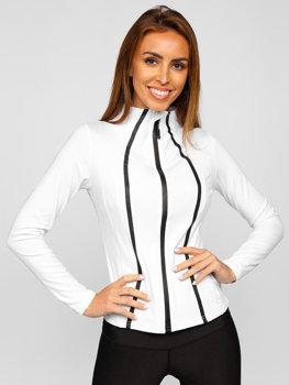 Biała bluza damska bez kaptura Denley HH020