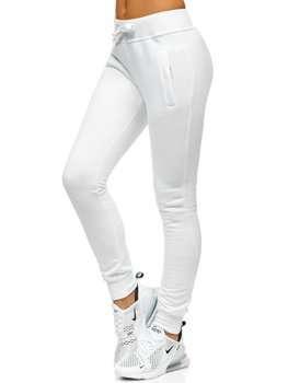 Białe spodnie dresowe damskie Denley CK-01
