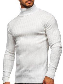 Biały sweter męski golf Denley 520