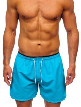 Błękitne krótkie spodenki kąpielowe męskie Denley 303