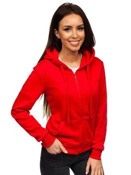 Bluza damska z kapturem czerwona Denley WB1005
