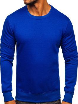 Bluza męska bez kaptura kobaltowa Denley 2001