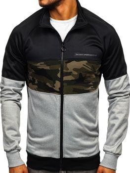 Bluza męska bez kaptura rozpinana czarna Denley 88015