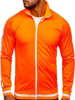 Bluza męska bez kaptura rozpinana retro style pomarańczowa Bolf 2126