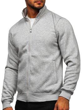 Bluza męska bez kaptura rozpinana szara Denley B002