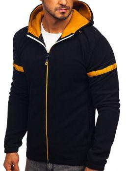 Bluza męska polar z kapturem czarna Denley YL008