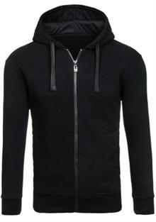 Bluza męska z kapturem czarna Denley HH60