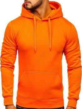 Bluza męska z kapturem pomarańczowa kangurka Denley 2009