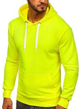 Bluza męska z kapturem żółty-neon Bolf 1004