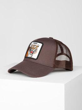 Brązowa czapka z daszkiem Denley CZ78-2