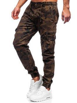 Brązowe spodnie joggery bojówki męskie Denley CT6026S0