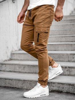 Camelowe spodnie joggery bojówki męskie Bolf 11104