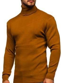 Camelowy golf sweter męski Denley H2025