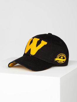 Czarna czapka z daszkiem Denley CZ71