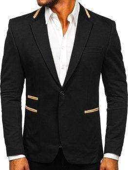 Czarna elegancka marynarka męska Denley 9400