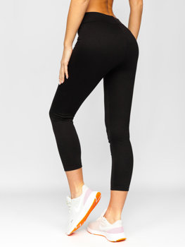 Czarne legginsy damskie Denley YW06011