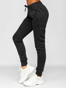 Czarne spodnie dresowe damskie Denley CK-01
