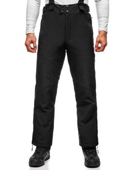 Czarne spodnie narciarskie męskie Denley BK161