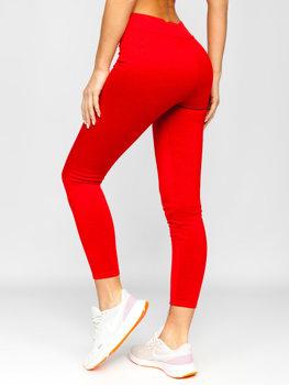 Czerwone legginsy damskie Denley YW01059