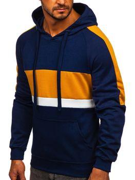 Granatowa bluza męska z kapturem Denley JZ11062