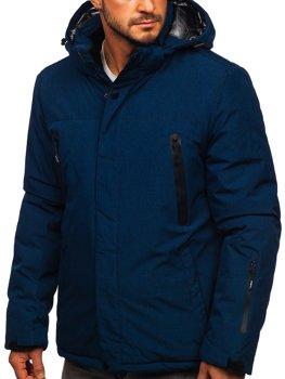 Granatowa narciarska kurtka męska zimowa sportowa Denley 9801