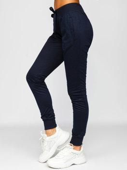 Granatowe spodnie dresowe damskie Denley CK-01