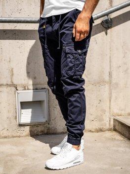 Granatowe spodnie joggery bojówki męskie Denley CT6703