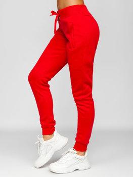 Jasnoczerwone spodnie dresowe damskie Denley CK-01
