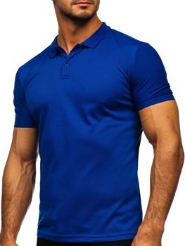 Kobaltowa koszulka polo męska Denley GD02