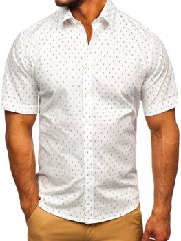 Koszula męska we wzory z krótkim rękawem multikolor Denley TSK101