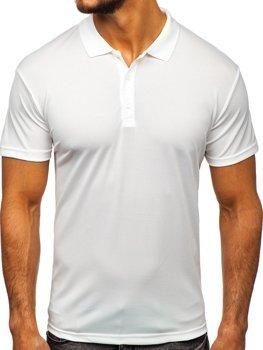 Koszulka polo męska biała Denley HS2005
