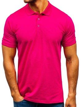 Koszulka polo męska ciemnoróżowa Denley 9025