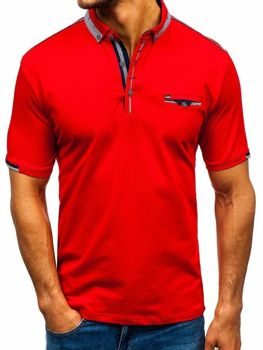 Koszulka polo męska czerwona Denley 192034