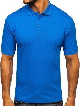 Koszulka polo męska niebieska Bolf 171221